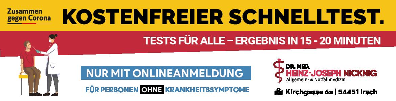 Corona Schnelltests | Teststation Irsch Saarburg