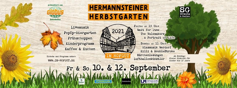 Hermannsteiner Herbstgarten: Familientag mit Frühschoppen, Kinderprogramm, Livemusik mit Killi & DoubleStroke
