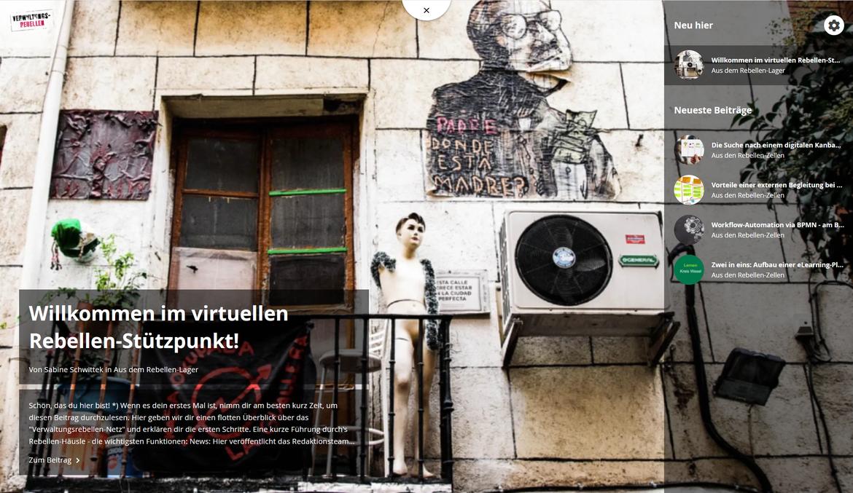 Führungen durch's virtuelle Rebellenhaus