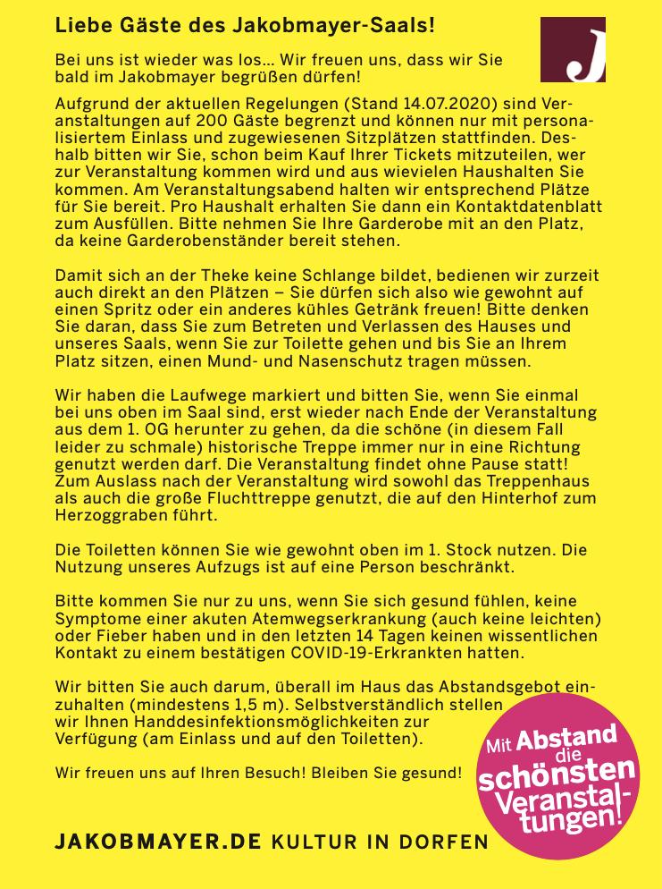 MARTIN FRANK - Einer für alle – Alle für keinen! (Jakobmayer/Dorfen)