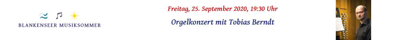 Orgelkonzert mit Tobias Berndt