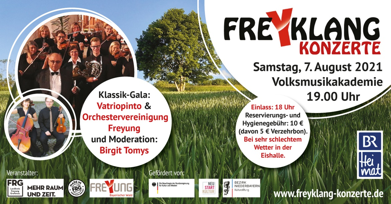Orchestervereinigung Freyung & Vatriopinto • Moderation: Birgit Tomys (BR) - Klassik Gala
