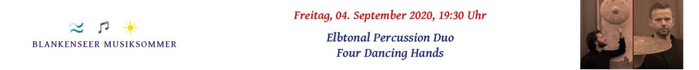 Elbtonal Percussion Duo: four dancing hands