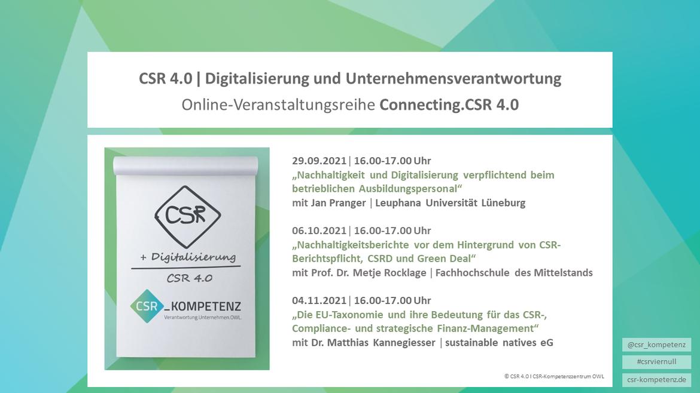 Connecting.CSR 4.0-Online-Workshops zu Digitalisierung und CSR
