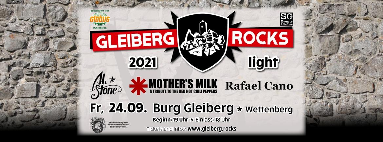 Gleiberg rocks LIGHT: Mother's Milk, Al Stone & Rafael Cano